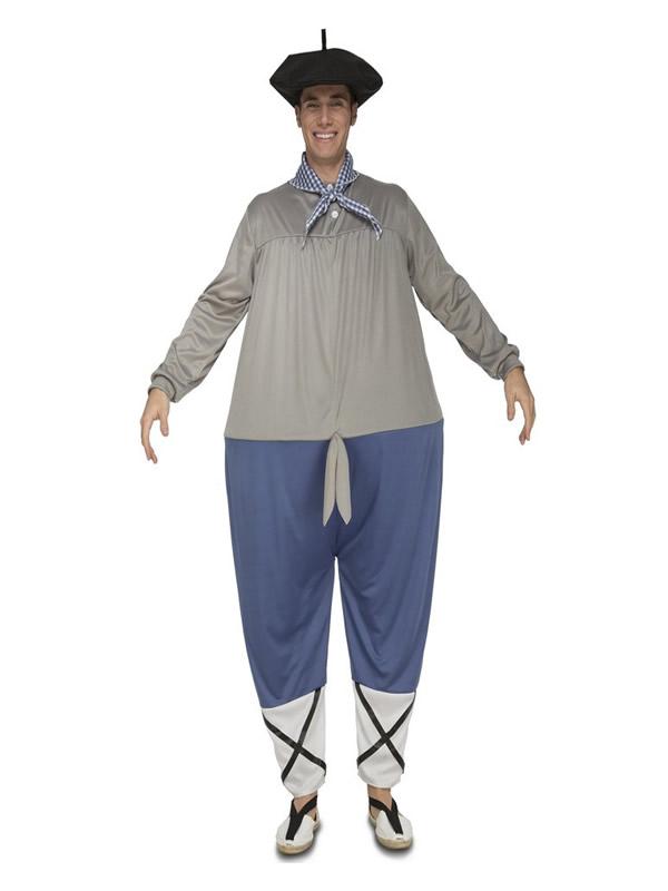 disfraz de campesino vasco gordo para hombre