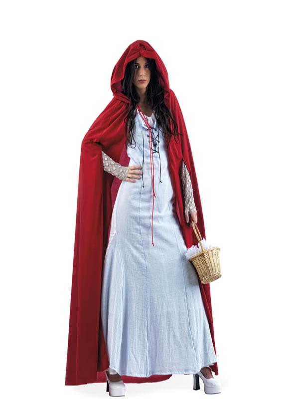 disfraz de caperucita azul deluxe mujer li166 - Grandes ideas de disfraces de parejas para el carnaval.