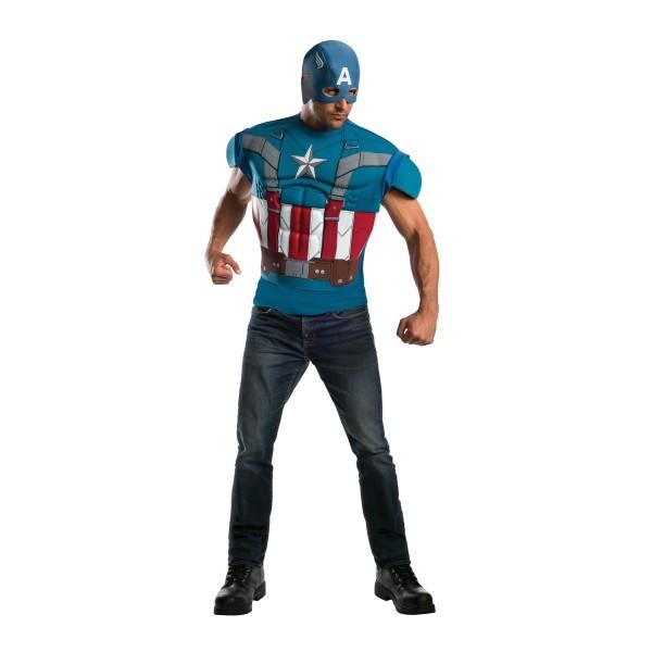disfraz de capitan america musculoso para hombre
