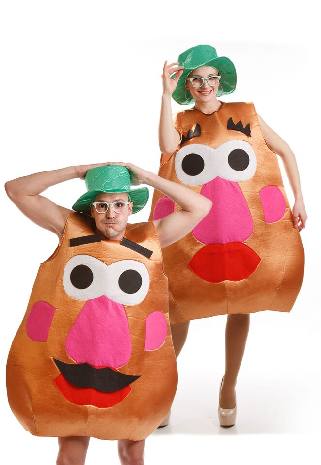 disfraz de cara señora patata adulto