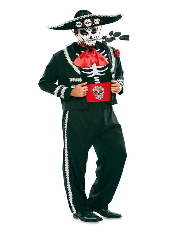 disfraz de catrin negro para hombre