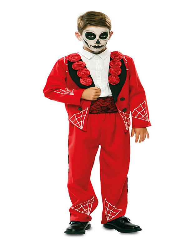 disfraz de catrin rojo para niño