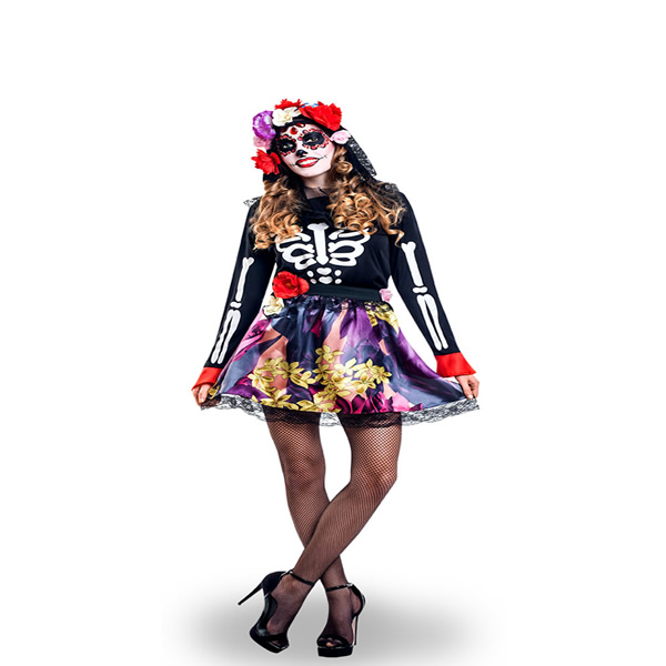disfraz de catrina mejicana mujer