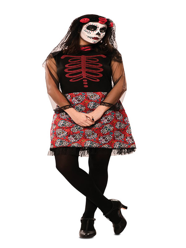 disfraz de catrina roja para mujer