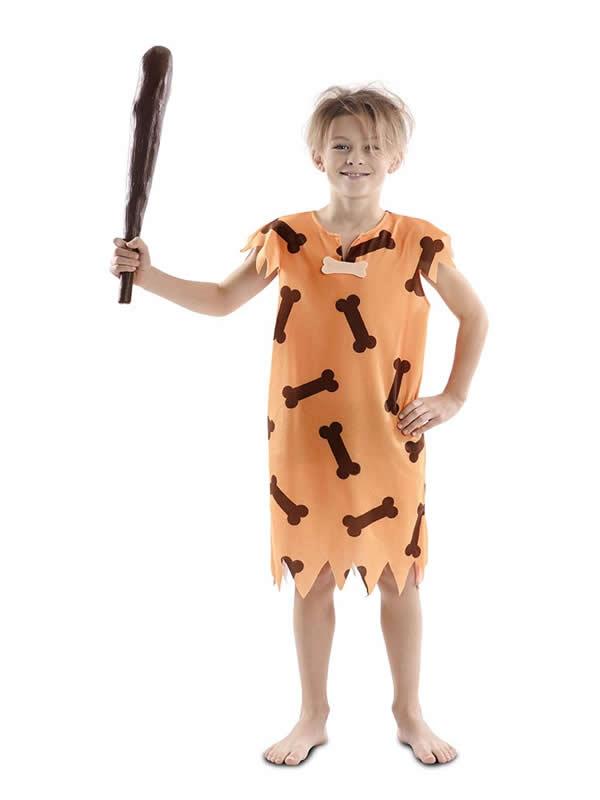 disfraz de cavernicola con huesos niño