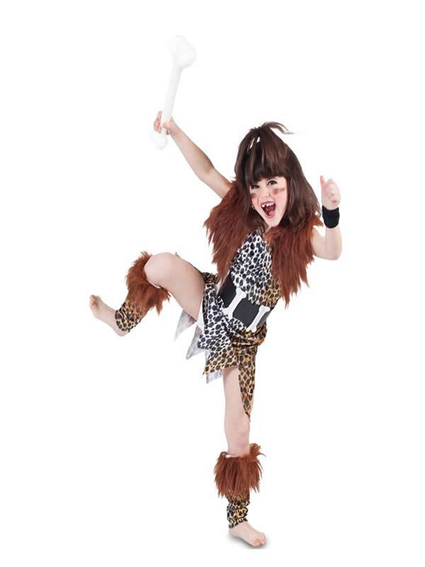 disfraz de cavernicola para niña