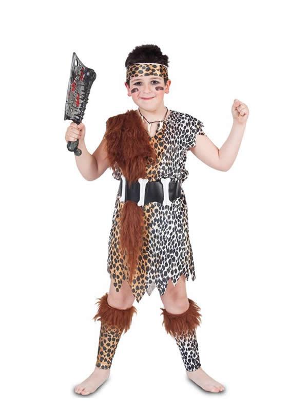 disfraz de cavernicola para niño