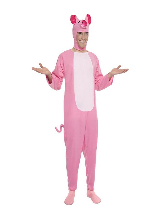 disfraz de cerdito rosa para hombre