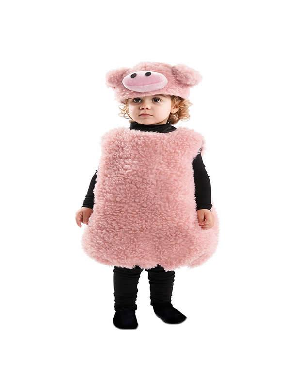 disfraz de cerdo rosa infantil