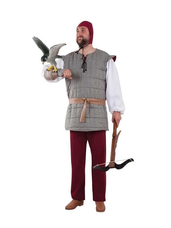 disfraz de cetrero medieval hombre