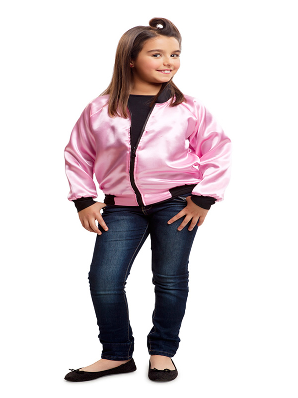 disfraz de chaqueta de pink lady 50s niña