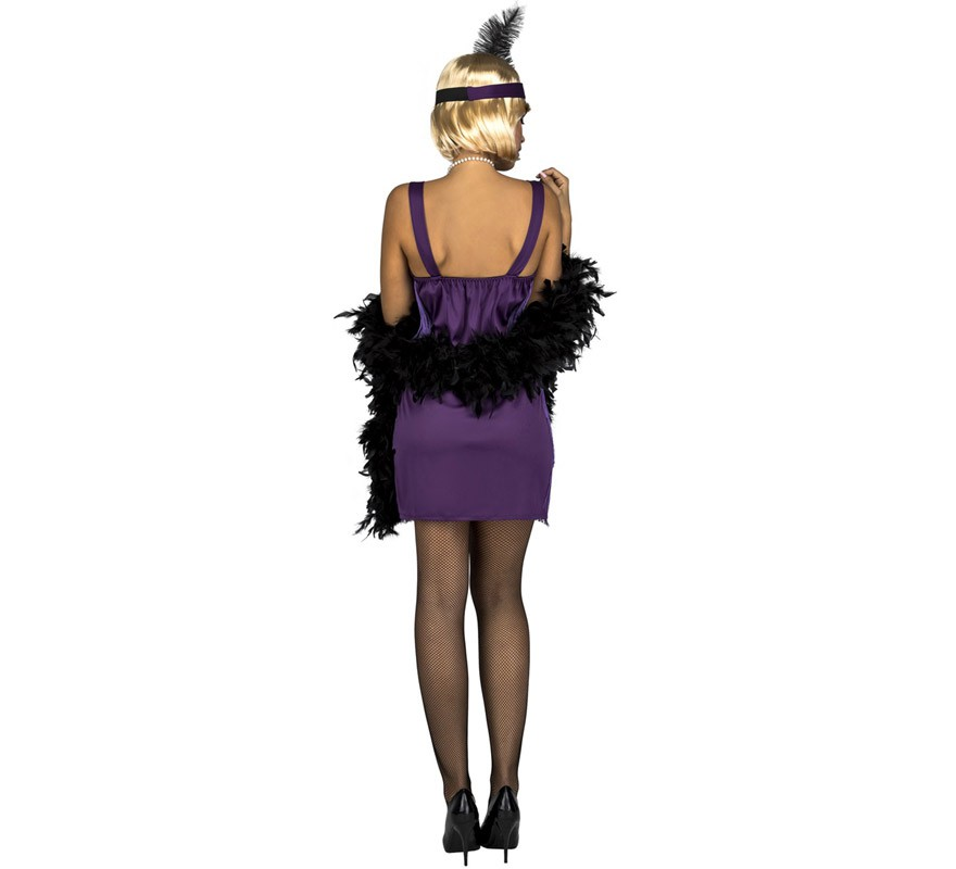 disfraz de charleston morada para mujer