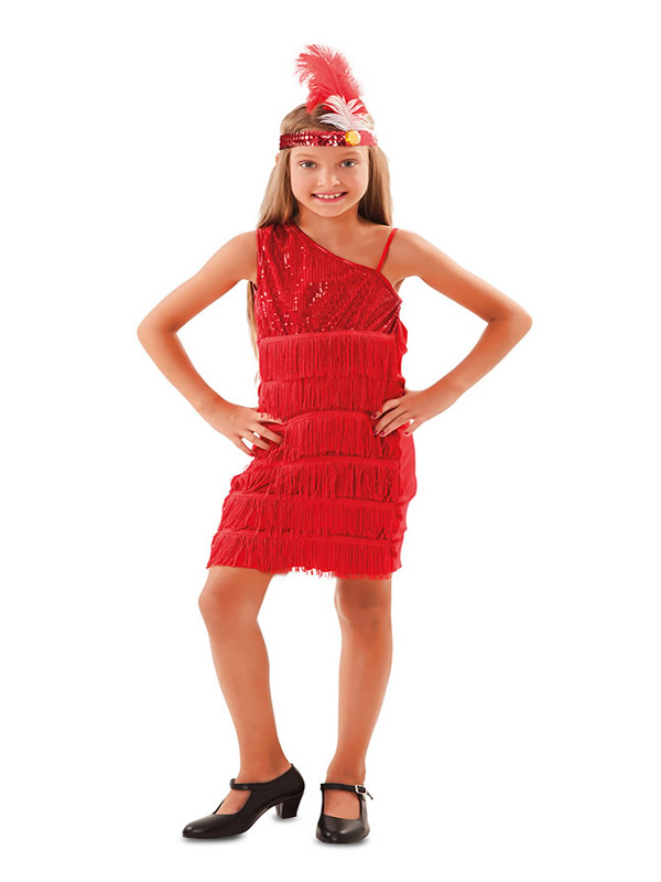 disfraz de charleston rojo para niña