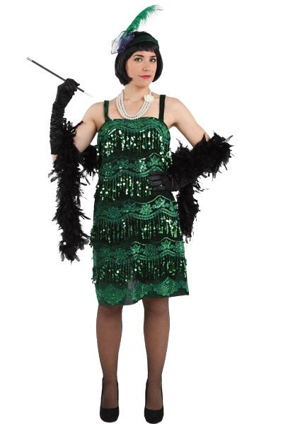 disfraz de charlestón verde lujo mujer
