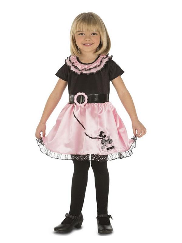 disfraz de chica años 50 para niña