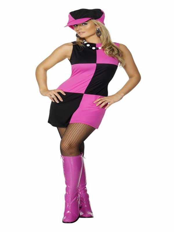 disfraz de chica de los año 60 para mujer