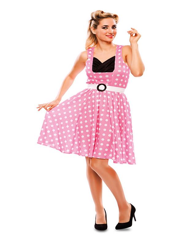 disfraz de chica pin up rosa mujer