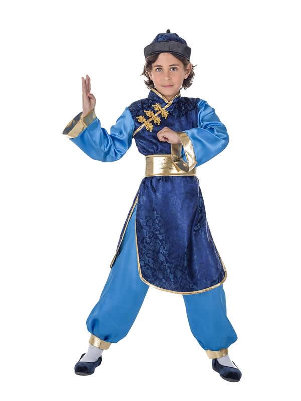 disfraz de chino azul para niño