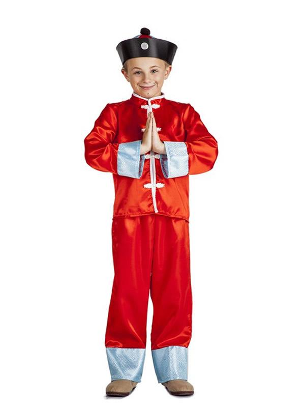 disfraz de chino oriental niño