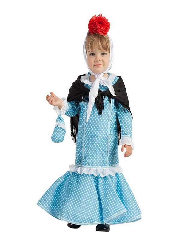 disfraz de chulapa azul para bebe