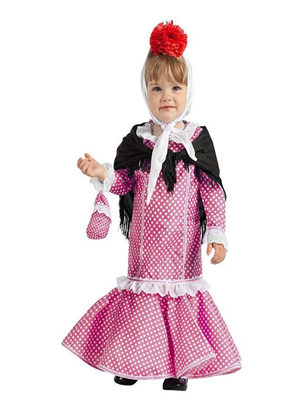 disfraz de chulapa rosa para bebe