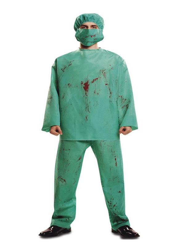 disfraz de cirujano sangriento para hombre