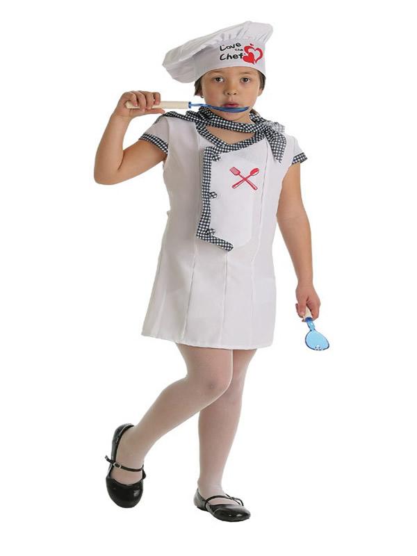 disfraz de cocinera corazones para niña