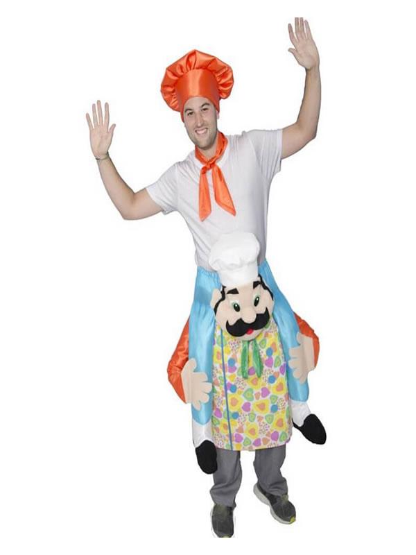 disfraz de cocinero loco divertido adulto