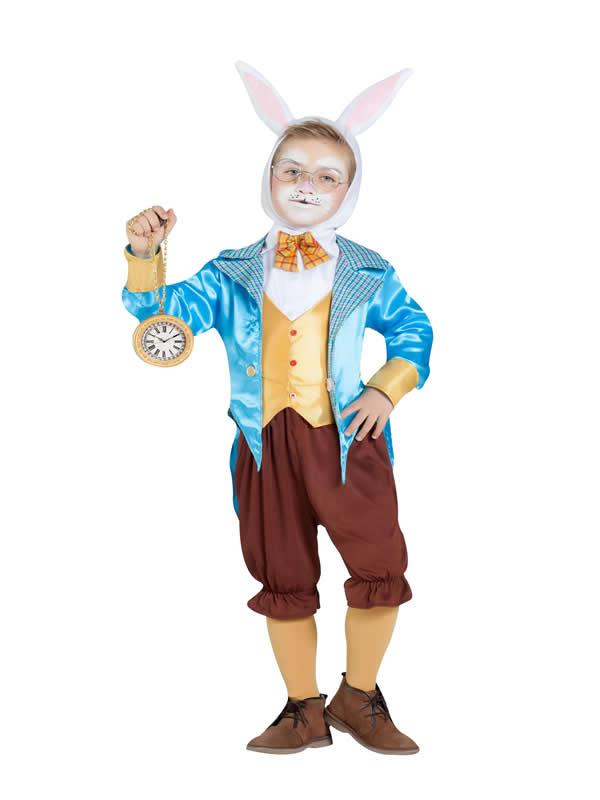 disfraz de conejo blanco con chaqueta niño