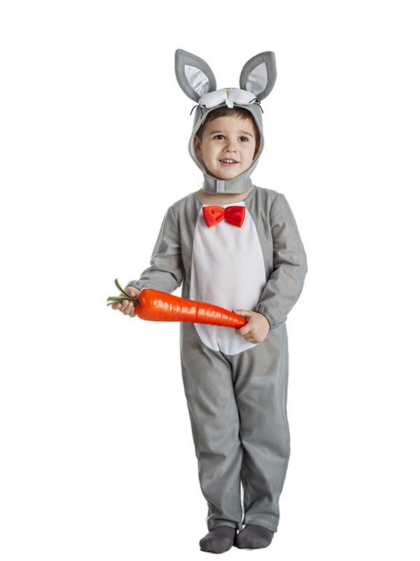 disfraz de conejo gris nino k2085 - Los 10 mejores disfraces de animales infantiles para comprar