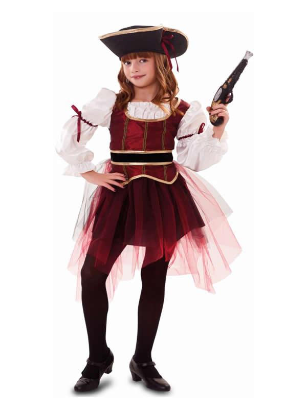 disfraz de corsaria con tul niña
