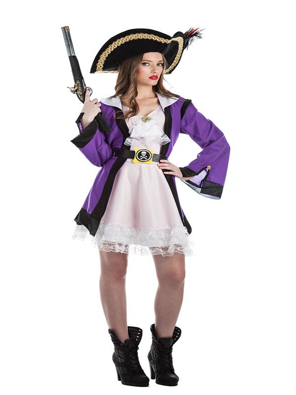 disfraz de corsaria lila mujer