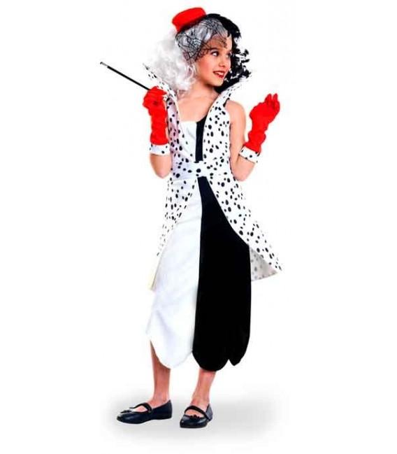 disfraz de cruela de vil nina infantil egl06960 - Los mejores disfraces en grupo infantil