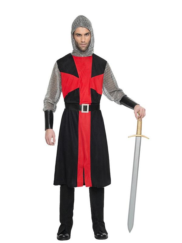 disfraz de cruzado medieval hombre