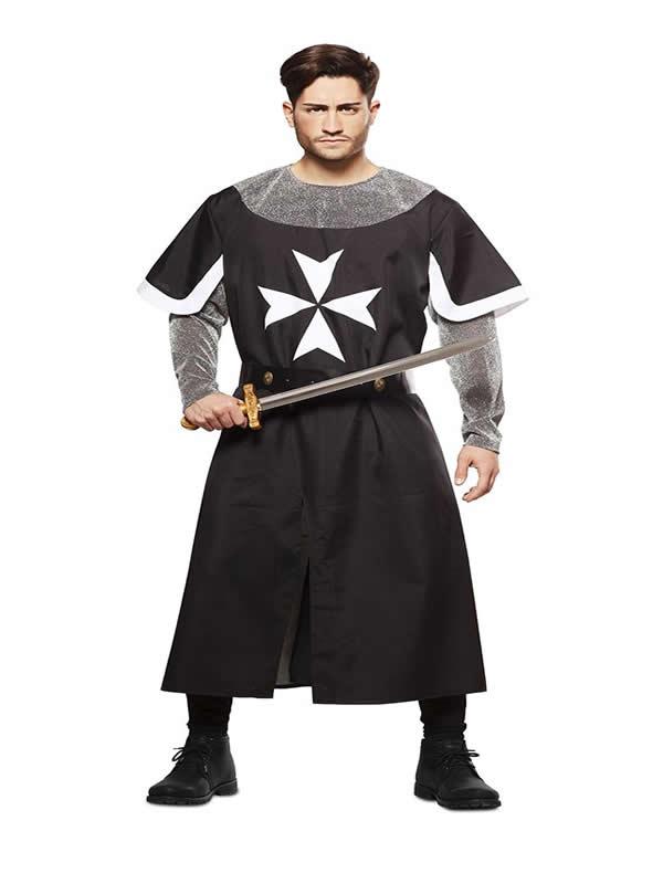 disfraz de cruzado medieval negro hombre