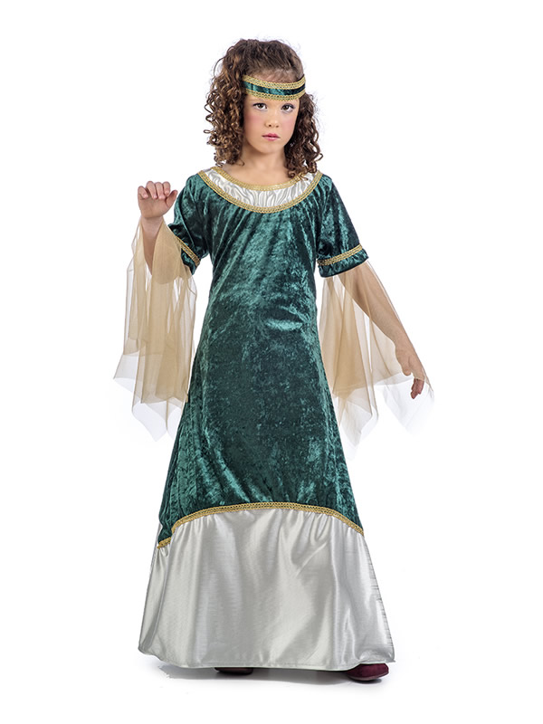 disfraz de dama medieval olivia nina MI106 - Las Mejores Ideas para Regalar Disfraces Infantiles en Navidades