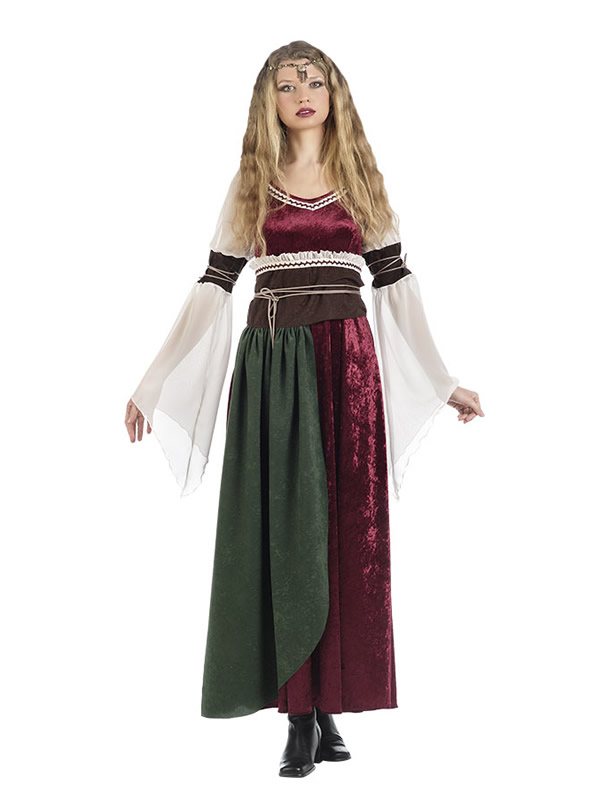 disfraz de dama medieval xana para mujer