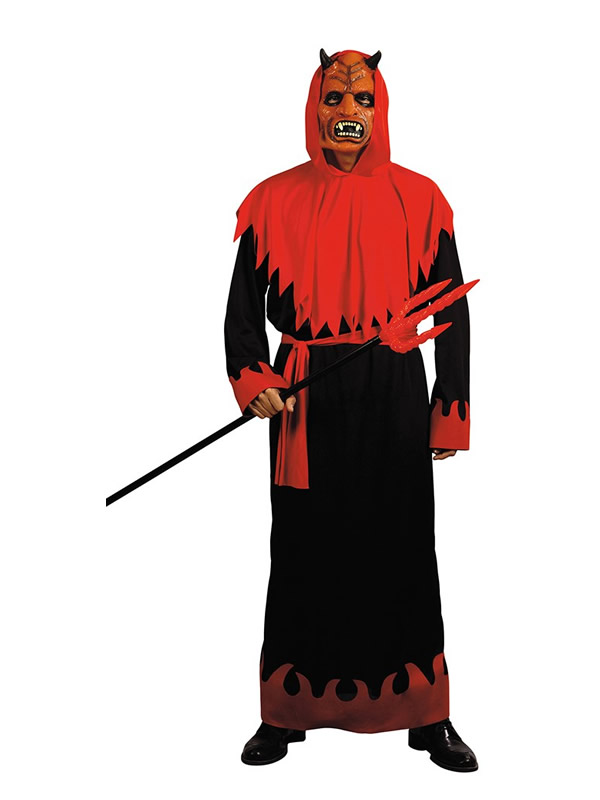 disfraz de demonio con mascara hombre