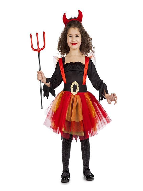disfraz de diablesa tutu para niña
