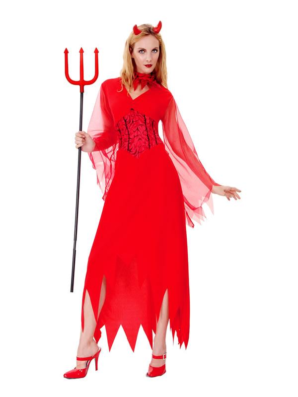 disfraz de diablesa vestido mujer adulto