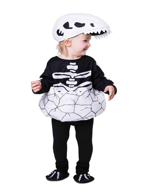 disfraz de dino esqueleto para niño