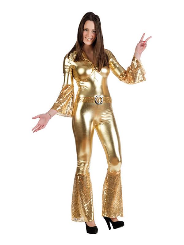 disfraz de diva de la disco oro mujer