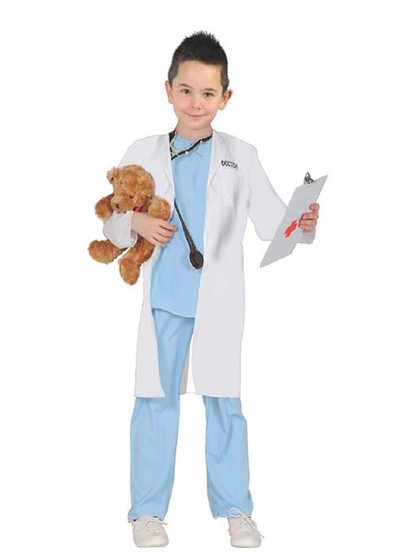 disfraz de doctor azul niño