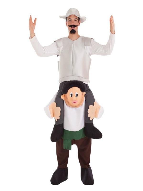 disfraz de don quijote a hombros de sancho para hombre