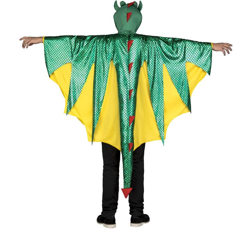 disfraz de dragon verde y amarillo para hombre