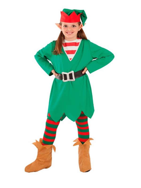 disfraz de elfa de la navidad para niña