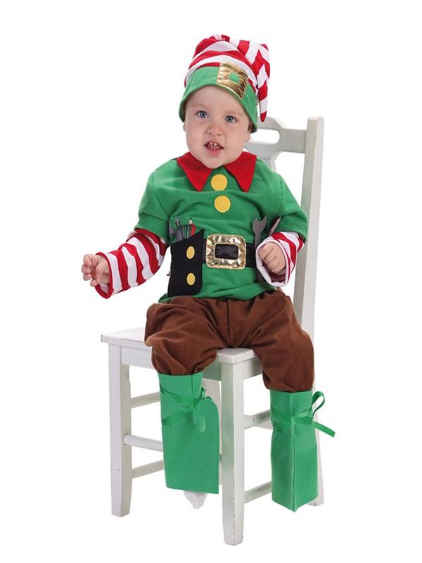 disfraz de elfo ayudante de santa claus bebe