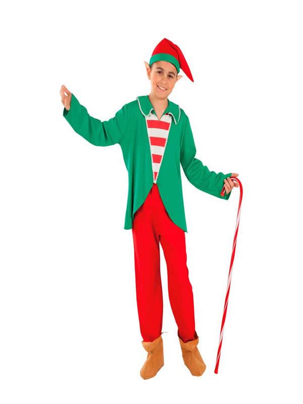 disfraz de elfo de la navidad para niño