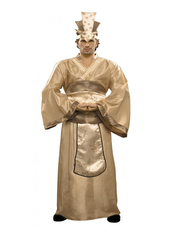 disfraz de emperador chino hombre
