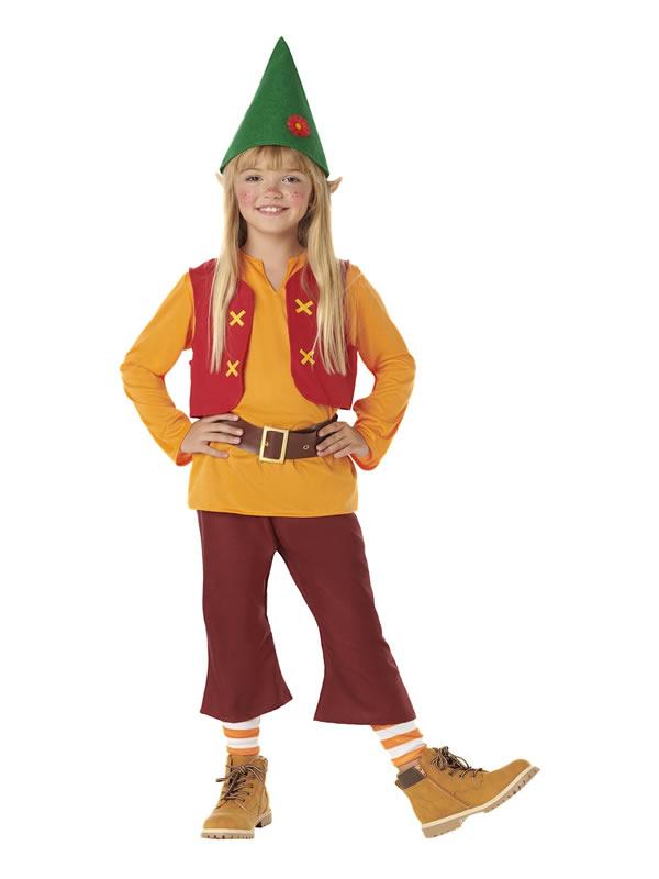 disfraz de enanito naranja infantil